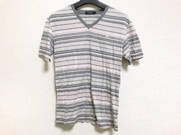 5a939756fca87b バーバリーブラックレーベル 半袖Tシャツ サイズ2 M メンズ美品 ボーダー/Vネック