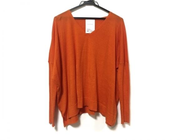 ELENDEEK(エレンディーク) 長袖セーター サイズF F レディース美品  オレンジ