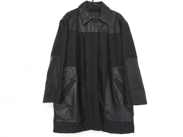 FENDI(フェンディ) コート サイズ42 M レディース美品  ズッカ柄 黒 冬物