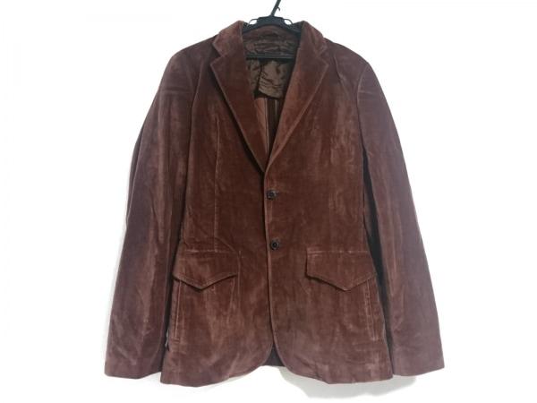 コスチュームナショナルオム ジャケット サイズ48 XL メンズ ブラウン ベロア