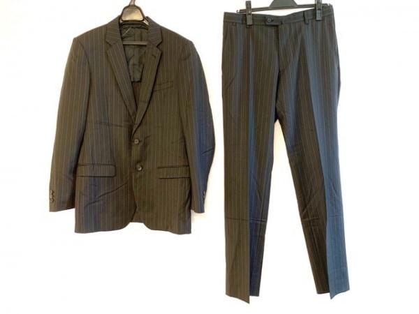コムサコレクション シングルスーツ サイズM メンズ 黒×グレー KENJI ITO/ストライプ