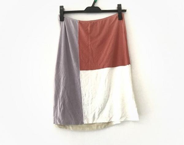 ETRO(エトロ) スカート サイズ40 M レディース アイボリー×パープル×ピンク