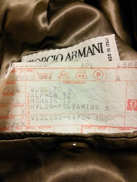 GIORGIOARMANI(ジョルジオアルマーニ) コート メンズ ブラウン 冬物/ロング丈