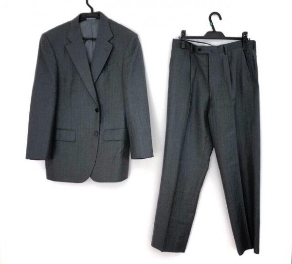 LONNER(ロンナー) シングルスーツ サイズ46C メンズ ダークグレー×ライトブルー