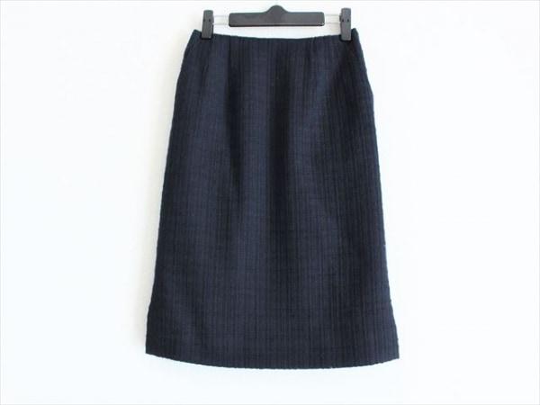 ミスアシダ スカート サイズ7 S レディース美品  ダークネイビー ツイード