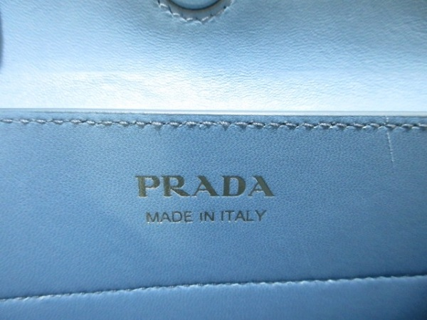 PRADA(プラダ) トートバッグ - アイボリー×ブルー レザー