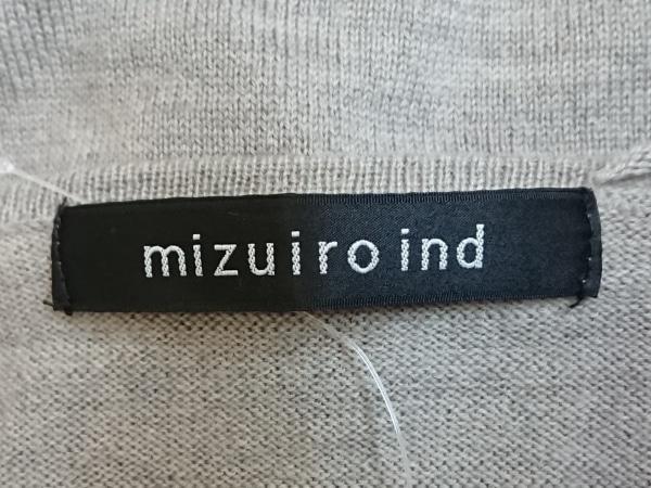 mizuiro  ind(ミズイロインド) カーディガン レディース グレージュ