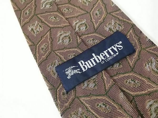Burberry's(バーバリーズ) ネクタイ メンズ ダークブラウン×ベージュ×マルチ