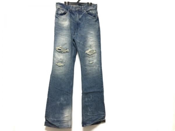 イサムカタヤマ バックラッシュ ジーンズ サイズS メンズ ブルー ダメージ加工
