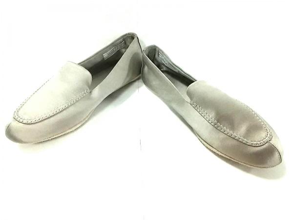 PRADA(プラダ) 靴 38 レディース シルバー ルームシューズ サテン