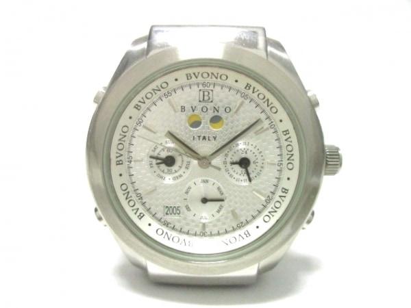 BVONO(ヴォーノ) 腕時計美品  - B-5502 メンズ 型押し加工 シルバー