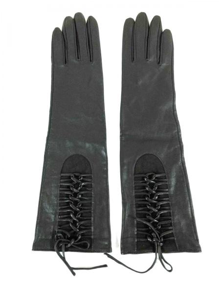 LEJOUR(ルジュール) 手袋 20CM レディース新品同様  ダークブラウン レザー×シルク