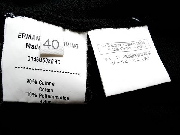 エルマノシェルビーノ ワンピース サイズ40 M レディース 黒 シースルー/刺繍