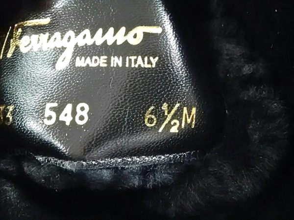 サルバトーレフェラガモ ロングブーツ 6 1/2 M レディース ヴァラ 黒 MY EASE