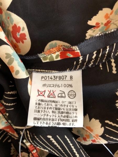 ピンクハウス チュニック レディース美品  黒×アイボリー×マルチ 花柄/シースルー