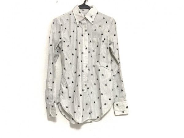 ブラックフリース バイ ブルックスブラザーズ 長袖シャツ サイズBB0 メンズ 白×黒