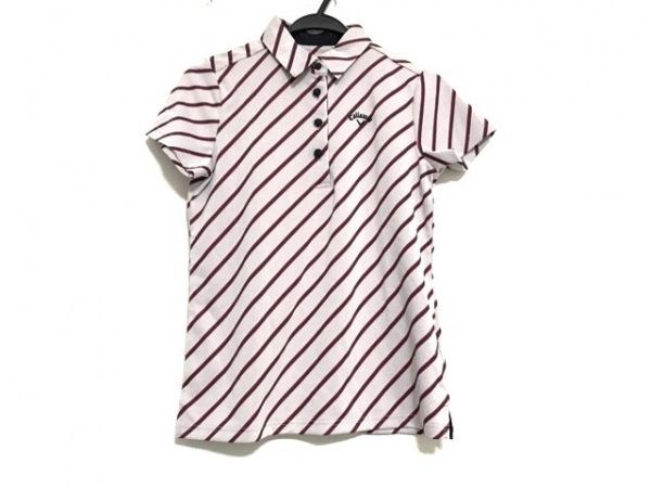 CALLAWAY(キャロウェイ) 半袖ポロシャツ サイズM レディース美品  斜めストライプ