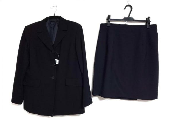 ミントブリーズ スカートスーツ サイズ17 XL レディース美品  黒 肩パッド