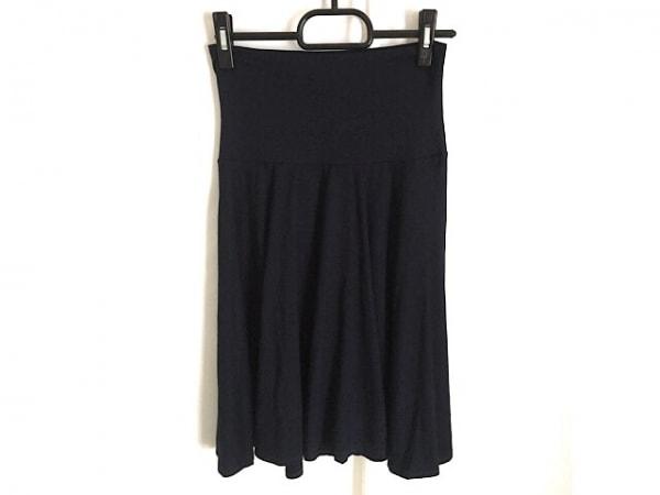 three dots(スリードッツ) スカート サイズXS レディース ネイビー