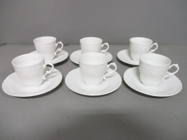 Richard Ginori(リチャードジノリ) カップ&ソーサー新品同様  白 6客セット 陶器