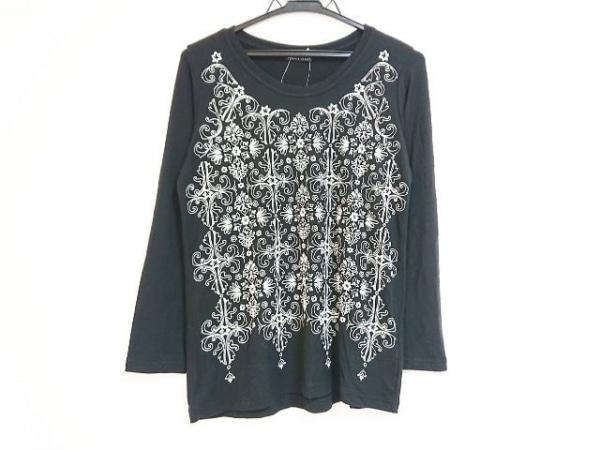 ede3e9858d レキップ ヨシエイナバ 長袖Tシャツ サイズ38 M レディース 黒×アイボリー