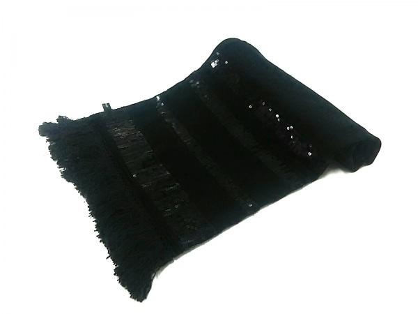 MERCURYDUO(マーキュリーデュオ) ストール(ショール) F 黒 スパンコール 化学繊維