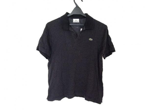 Lacoste(ラコステ) 半袖ポロシャツ サイズ4 XL メンズ 黒×アイボリー