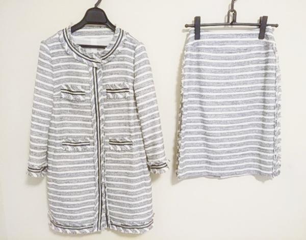 リツコシラハマ スカートスーツ サイズ1 S レディース ネイビー×白