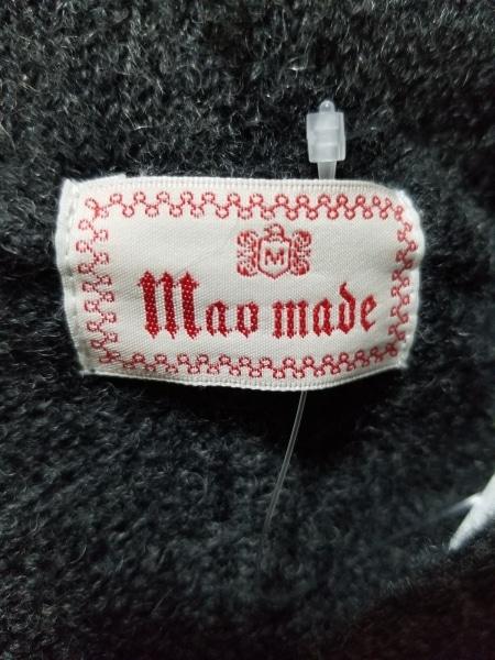 MaoMade(マオメイド) ブルゾン サイズM レディース美品  ダークグレー 冬物/ニット