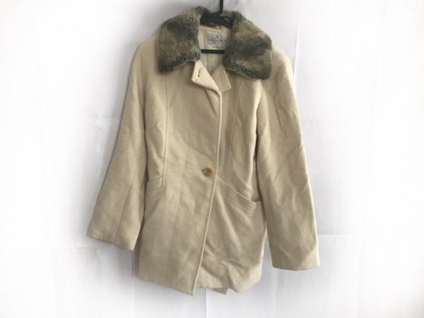 トラサルディー コート サイズ44 L レディース アイボリー 冬物/DA TRUSSARDI