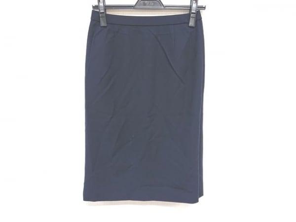 Leilian(レリアン) スカート サイズ13+ S レディース美品  ダークネイビー
