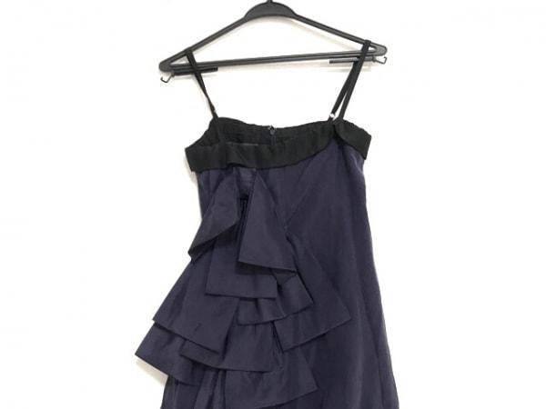 グレースコンチネンタル ドレス サイズ36 S レディース美品  パープル×黒