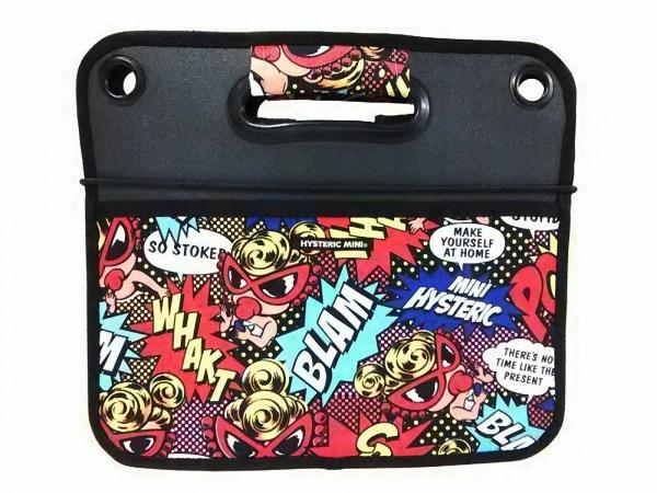 ヒステリックミニ ハンドバッグ美品  黒×レッド×マルチ マルチケース/折りたたみ