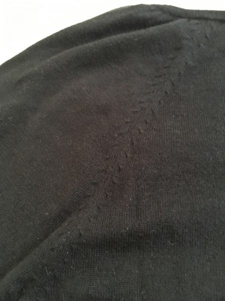 INGEBORG(インゲボルグ) 長袖セーター サイズ9 M レディース 黒 フラワー/刺繍