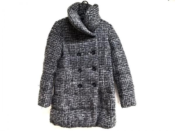 BRAHMIN(ブラーミン) コート サイズ38 M レディース美品  グレー×黒 チェック柄/冬物