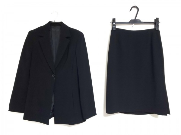 ICB(アイシービー) スカートスーツ サイズ9 M レディース 黒 肩パッド