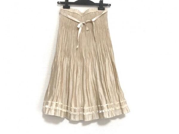 トゥービーシック スカート サイズ40 M レディース美品  アイボリー プリーツ