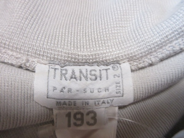 TRANSIT(トランジット) 半袖カットソー レディース ライトグレー