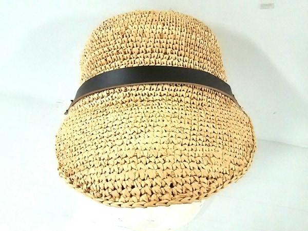 RIVE DROITE(リヴドロワ) 帽子 ベージュ×ダークブラウン 天然繊維