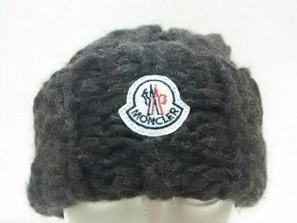 MONCLER(モンクレール) ニット帽美品  ダークブラウン アルパカ×ナイロン×ウール