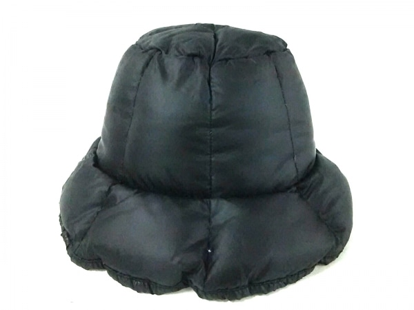 C.ROUAN(セ.ルーアン) 帽子美品  黒 キルティング 化学繊維