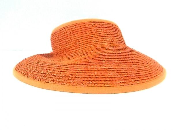 HELEN KAMINSKI(ヘレンカミンスキー) サンバイザー ONE SIZE オレンジ ラフィア