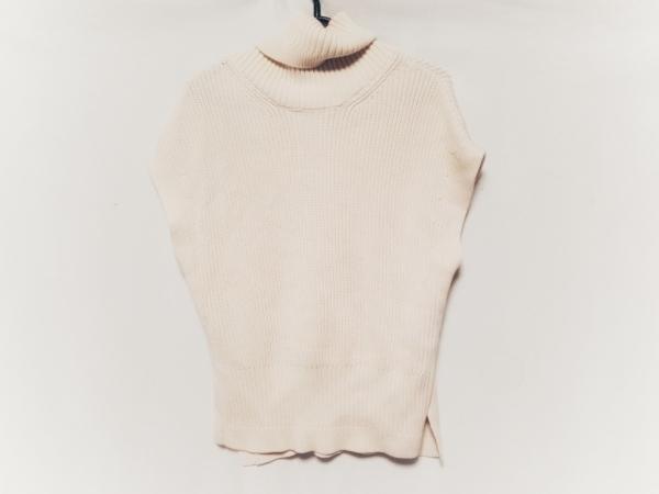 MARILYN MOON(マリリンムーン) ノースリーブセーター レディース美品  ピンクベージュ
