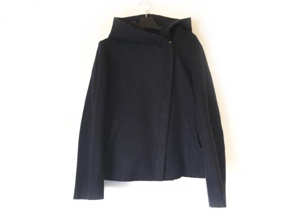 インタープラネット コート サイズ2 M レディース ダークネイビー 冬物/ショート丈