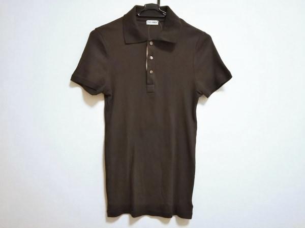 ドルチェアンドガッバーナ 半袖ポロシャツ サイズS メンズ美品  ダークブラウン