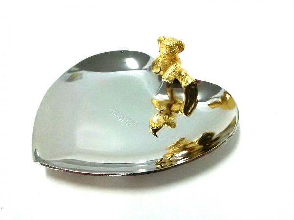 ミキモト 小物美品  シルバー×ゴールド×アイボリー くま/アクセサリートレイ