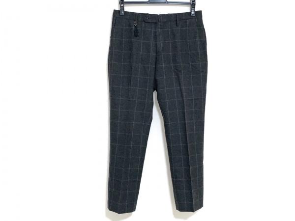 インコテックス パンツ サイズ46 XL メンズ ダークグレー×ライトグレー チェック柄