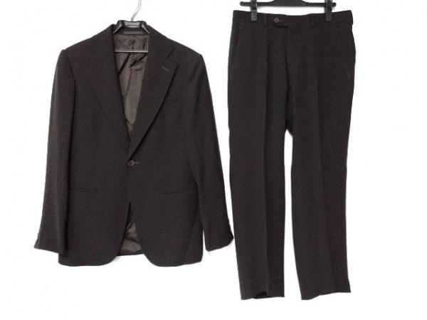 アルマーニコレッツォーニ シングルスーツ サイズ46 S メンズ ダークブラウン