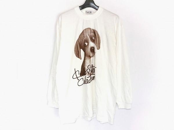 kunio sato(クニオ サトウ) 長袖Tシャツ メンズ美品  白×ダークブラウン