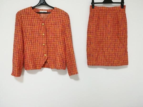 クロエ スカートスーツ サイズ42 L レディース ピンク×ネイビー×マルチ 肩パッド